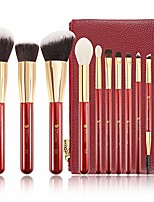 cheap -makeup brush set with case 10 piece makeup brushes premium synthetic hairs kabuki foundation blending eye cosmetic brushes kit