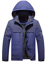 cheap -Men's Hiking Jacket Winter Outdoor Thermal Warm Waterproof Windproof Breathable Jacket Winter Jacket Top Hunting Climbing Outdoor Dark Grey / Black / Army Green / Orange / Ivory
