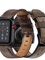 cheap -Leather Watch Band for Apple Watch Series 6 SE / Apple Watch Series 5 / 4 / 3 / 2 / 1 38mm 40mm 42mm 44mm Replaceable Bracelet Wrist Strap Wristband
