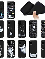 cheap -Case For Samsung Galaxy S20 Ultra S20 PLUS A51 5G Shockproof Frosted Pattern Back Cover Sky Animal Feathers High Guality Black Bbackground TPU for Galaxy A71 5G A21s A81 Note 20  S10 Lite A90