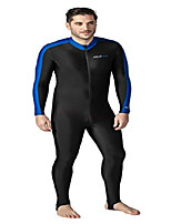 cheap -aqua blue sport skin spandex super-stretch body suit, perfect for surfing, diving, snorkeling, all water sports. 50+ upf (blue, 3xl)