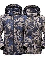 cheap -Men's Hiking Jacket Winter Outdoor Solid Color Waterproof Windproof Breathable Warm Jacket Full Length Hidden Zipper Hunting Ski / Snowboard Fishing Grey / Black / Green / Black / Blue