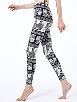 cheap -Women's Sporty Yoga Comfort Skinny Daily Leggings Pants Animal Ankle-Length High Waist Black