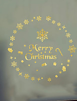 cheap -Christmas Snowflake DIY Wall Stickers Decorative Wall Stickers, PVC Home Decoration Wall Decal Wall Decoration / Removable