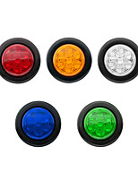 cheap -2 Inch Round Trailer Led 12V/24V Clearance Side Marker Lights 7LED with Reflectors Waterproof Sealed 2 Inch round led marker lights Fender Cab Panel Lights Grommets and Pigtails 5 Colors To Choice