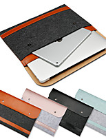cheap -12 Inch Laptop / 13.3 Inch Laptop / 15.6 Inch Laptop Sleeve / Satchel / Tablet Cases PU Leather / Polyester / Cotton Blend Solid Colored / Plain for Men for Women for Business Office Shock Proof