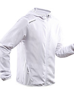 cheap -Men's Hiking Windbreaker Summer Outdoor Solid Color Thermal Warm Waterproof Windproof Sunscreen Jacket Fishing Climbing Camping / Hiking / Caving White / Black / Quick Dry / Breathable / Breathable