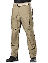 cheap -men's outdoor multi pockets tactical pants cargo pants(khaki 38w/32.5l)