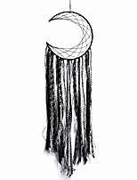 "cheap -black half circle moon dream catchers indian dream catcher handmade traditional dream catcher wall hanging home decoration 9.4"" lx31.4 l"