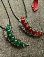 cheap -Choker Necklace Chains Long Necklace Women's Unique Design Trendy Romantic Boho Cute Cool Red Dark Green 90 cm Necklace Jewelry for Street Gift Daily Promise Festival / Charm Necklace