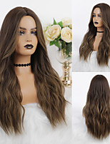 cheap -Cosplay Costume Wig Synthetic Wig Ombre Wavy Body Wave Middle Part Wig Long Dark Brown Synthetic Hair 26 inch Women's Heat Resistant Party Color Gradient Brown Ombre EMMOR / Ombre Hair