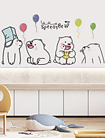 cheap -Animals Wall Stickers Cute Bear Wall Stickers Decorative Wall Stickers PVC Home Decoration Wall Decal Wall Decoration 1pc