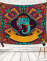 cheap -Wall Tapestry Art Decor Blanket Curtain Picnic Tablecloth Hanging Home Bedroom Living Room Dorm Decoration Polyester Elephant Color Pattern
