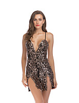 cheap -Women's Strap Dress Short Mini Dress - Sleeveless Solid Color Backless Sequins Patchwork Summer Sexy Slim 2020 White Black Red Gold S M L XL