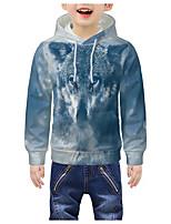 cheap -Kids Boys' Active 3D Graphic Animal Print Long Sleeve Hoodie & Sweatshirt Blue