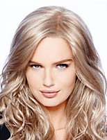 cheap -Synthetic Wig Curly Water Wave Middle Part Wig Long Light Brown Blonde Synthetic Hair Women's Fashionable Design Exquisite Blonde Light Brown