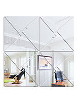 cheap -Square Shapes Wall Stickers Mirror Wall Stickers Decorative Wall Stickers, Acrylic Home Decoration Wall Decal Wall Decoration 1pc