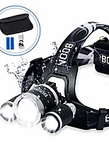 cheap -rechargeable headlamp, headlamp flashlight usb rechargeable outdoors headlamp led headlamp rechareable head lamp for adults, camp, work - 4 modes ipx4 and waterproof (black)