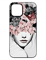 cheap -Case For iPhone 12 Pro Max Frosted Pattern Back Cover Sexy Lady TPU Soft iPhone 12 Mini 11 Pro SE 2020 XR XS Max 7 8 Plus