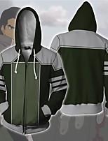 cheap -Inspired by Avatar: The Last Airbender Kuvira Cosplay Costume Hoodie Terylene 3D Printing Hoodie For Men's / Women's