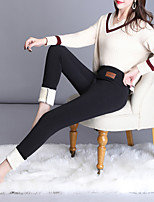cheap -Women's Basic Slim Daily Casual Pants Pants Solid Colored Full Length High Waist Black Gray
