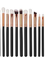 cheap -12pcs mini cosmetic eyebrow makeup brush sets kits tools (black)
