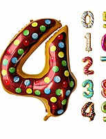 """cheap -36"""" inch donut balloon donut number birthday party decorations grow up aluminum hanging foil film balloon wedding air mylar balloons"""