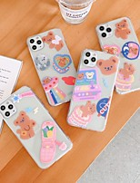 cheap -Case For iPhone 11 Shockproof / Dustproof / Transparent Back Cover Animal / Cartoon TPU For Case iphone 11 Pro/11 Pro Max/7/8/7P/8P/SE 2020/X/Xs/Xs MAX/XR