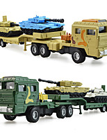 cheap -KDW 1:64 Plastic Alloy Military Transport Truck Engineering Vehicle Alloy Car Model Deformation Simulation All Adults Kids Car Toys