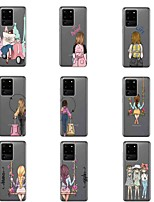 cheap -Case For Samsung Galaxy S20 Plus / S20 Ultra / S20 Pattern Back Cover Sexy Lady TPU