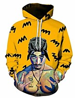 cheap -Inspired by Cosplay 2PAC Cosplay Costume Hoodie Plush Fabric 3D Printing Hoodie For Men's / Women's