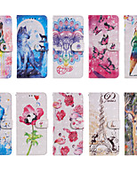 cheap -Case For Apple scene map iPhone 12 11 Pro Max XS Max cartoon flower animal pattern glossy 3D craft PU leather material card holder all-inclusive mobile phone case