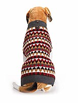 cheap -pet triangle diamond squares british plaid style dog sweater winter cozy coat (l)