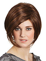 cheap -Synthetic Wig Straight Middle Part Wig Short Dark Brown Synthetic Hair Women's Fashionable Design Cool Exquisite Dark Brown