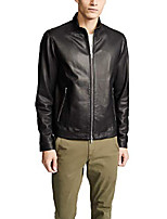 cheap -men's morvek lkelleher leather jacket, black, x-large