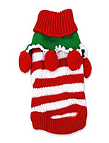 cheap -holiday festive colorful red winter warm xmas dog clothes christmas striped cozy knitted pet dog custom sweater - medium