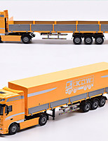 cheap -KDW 1:50 Plastic Alloy Flatbed Transporter Engineering Vehicle Alloy Car Model Deformation Simulation All Adults Kids Car Toys