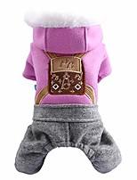 cheap -wakeu fleece dog hoodie sweater pet clothes for small dog girl puppy autumn winter coat princess sweatshirt cute print christmas holiday pet clothing walking outdoor home