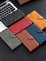 cheap -Case For OPPO oppo A9 2020 / OPPO A5 2020 / Oppo Reno 4 Wallet / Shockproof / Flip Full Body Cases Solid Colored PU Leather