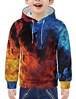 cheap -Kids Boys' Active 3D Graphic Print Long Sleeve Hoodie & Sweatshirt Rainbow