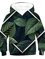 cheap -Kids Boys' Active Basic 3D Drawstring Long Sleeve Hoodie & Sweatshirt Green