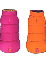 "cheap -reversible puffer dog coat hot pink/orange (20"")"