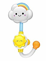 cheap -infant baby bath toy, flower baby bath shower head manual water pump with hand shower bathtub bathing water game sprays water for kids toddlers bath time