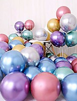 cheap -party balloons 50 pcs 12 inch metallic balloons latex birthday balloons helium shiny balloons thick chrome balloons for wedding birthday baby shower christmas party decoration- metallic multicolor