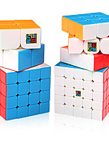 cheap -Speed Cube Set 4 pcs Magic Cube IQ Cube MoYu 2*2*2 3*3*3 4*4*4 Speedcubing Bundle Stress Reliever Puzzle Cube Stickerless Smooth Office Desk Toys Kid's Adults Toy Gift