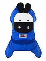 cheap -pet cat dog calf puppet printing vest sweater winter warm clothing four-legged pants plush cotton coat clothes sweatshirt sportswear onesies s-l2 (blue, s)
