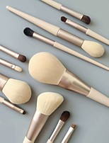 cheap -Professional Makeup Brushes 12pcs Full Coverage Travel Size Comfy Wooden / Bamboo for Makeup Brush Set