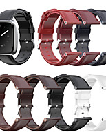 cheap -Watch Band for Fitbit Versa / Fitbit Versa Lite / Fitbit  Versa 2 Fitbit Classic Buckle Genuine Leather Wrist Strap