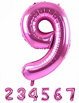 cheap -40 inch pink large numbers balloons 0-9,number 9 digit helium balloons,foil mylar big number balloons for birthday party supplies decorations