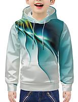 cheap -Kids Boys' Active 3D Graphic Print Long Sleeve Hoodie & Sweatshirt Green